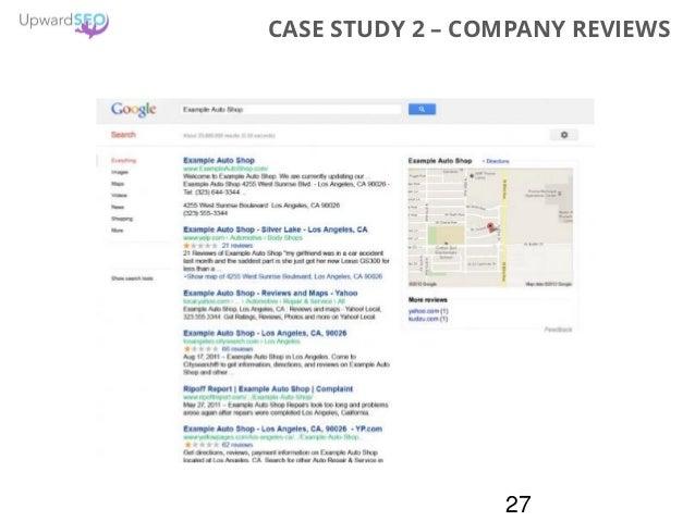 27 CASE STUDY 2 – COMPANY REVIEWS