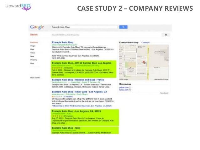 CASE STUDY 2 – COMPANY REVIEWS