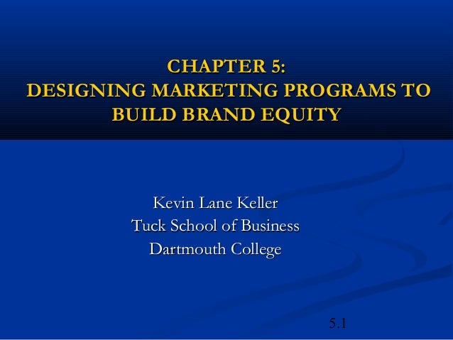 5.1CHAPTER 5:CHAPTER 5:DESIGNING MARKETING PROGRAMS TODESIGNING MARKETING PROGRAMS TOBUILD BRAND EQUITYBUILD BRAND EQUITYK...