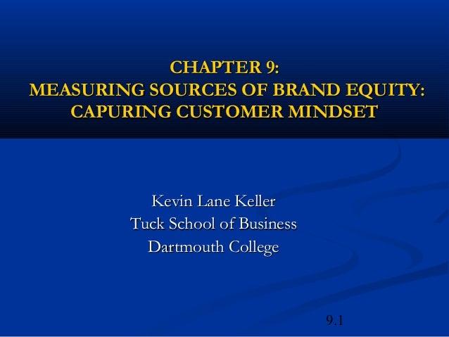 CHAPTER 9:MEASURING SOURCES OF BRAND EQUITY:   CAPURING CUSTOMER MINDSET          Kevin Lane Keller        Tuck School of ...