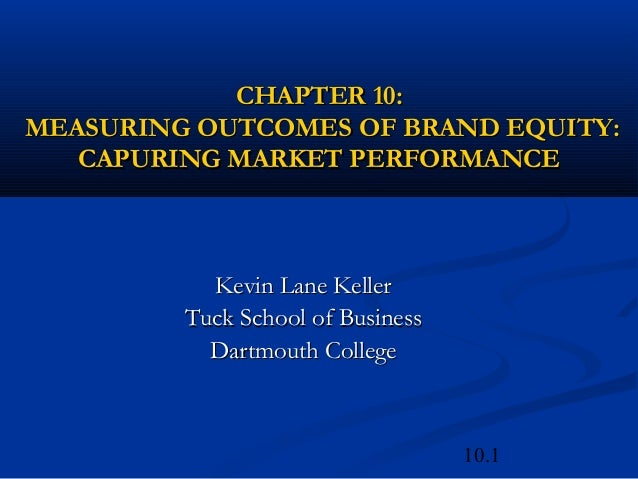 10.1CHAPTER 10:CHAPTER 10:MEASURING OUTCOMES OF BRAND EQUITY:MEASURING OUTCOMES OF BRAND EQUITY:CAPURING MARKET PERFORMANC...