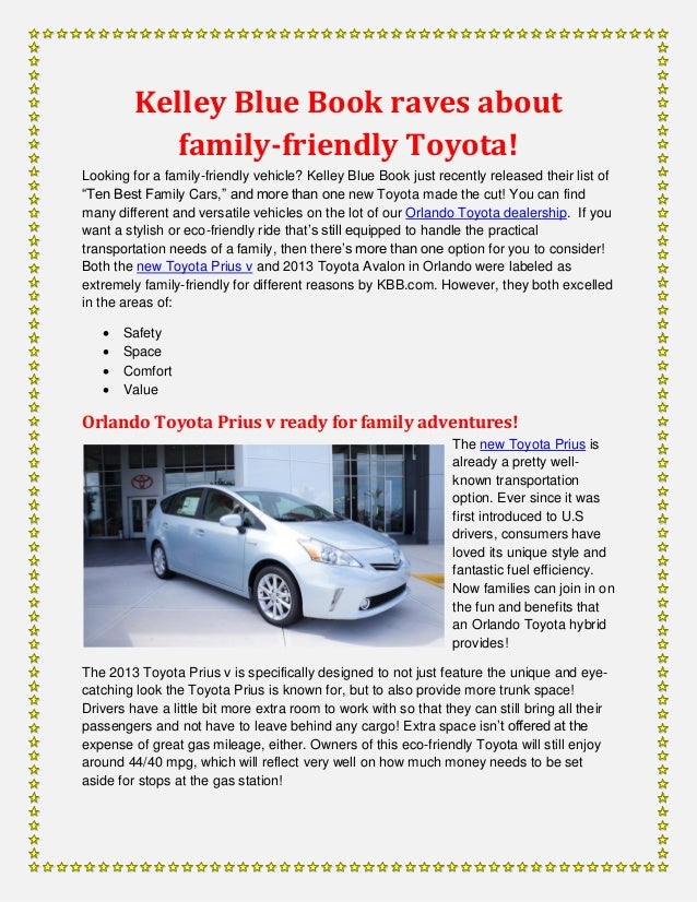 kelley blue book raves about family friendly toyota. Black Bedroom Furniture Sets. Home Design Ideas