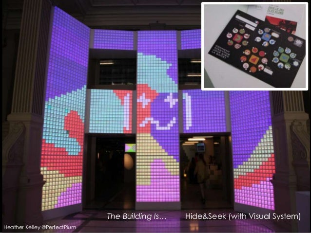 The Building Is… Hide&Seek (with Visual System)Heather Kelley @PerfectPlum