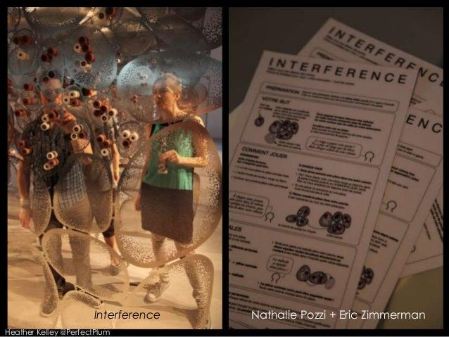 Interference Nathalie Pozzi + Eric ZimmermanHeather Kelley @PerfectPlum