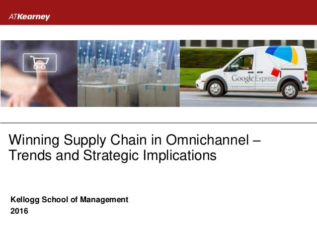 Winning Supply Chain in Omnichannel – Trends and Strategic Implications Kellogg School of Management 2016