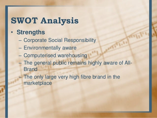 kellogg company swot analysis Weith 2008 sales of nearly $13 billion, kellogg company is the world's leading producer of cereal and a leading producer of convenience foods, including cookies.