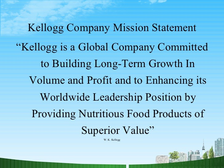 market analysis of kellogg s Pestle analysis it industry and pestle analysis the indian information technology sector has been instrumental in all kellogg's pestle analysis essays and.
