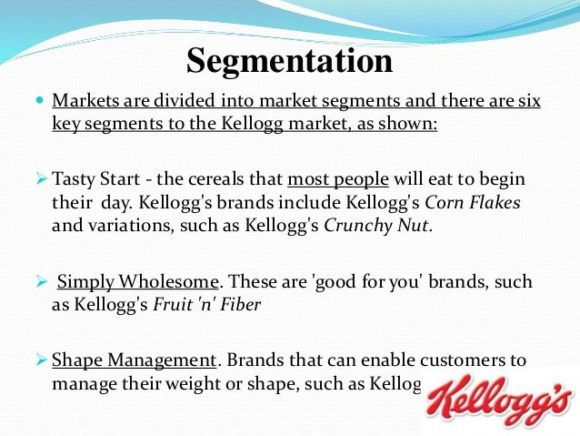 market analysis of kellogg s Margins are tight in the ready-to-eat cereal industry for a company like kellogg kellogg had been using a traditional relational database on premises for data analysis and modeling amazon web services is hiring amazon web services (aws.