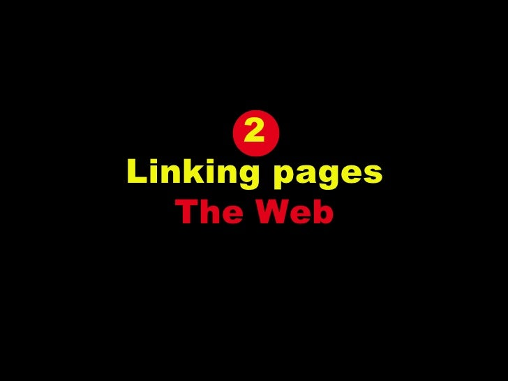 2 Linking pages The Web