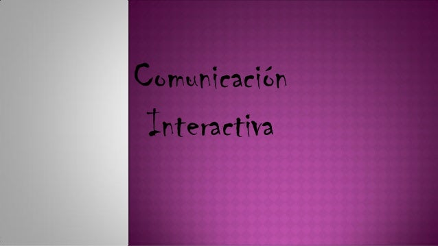 ComunicaciónInteractiva