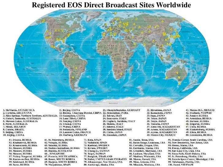 Terra Earth Map.We1 L10 Terra Aqua And Aura Direct Broadcast Providing Earth Sc