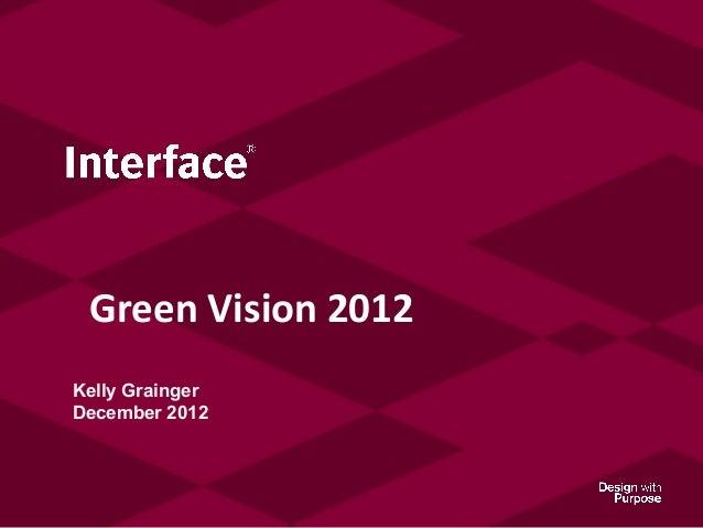Green Vision 2012Kelly GraingerDecember 2012