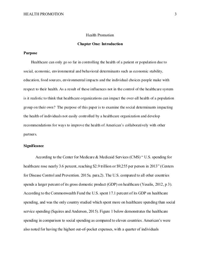 health promotion paper
