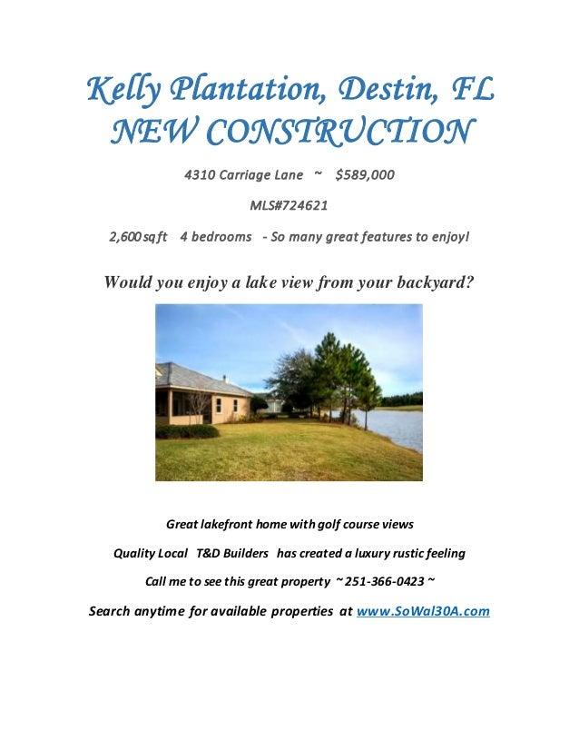 Kelly Plantation, Destin, FL - New Construction