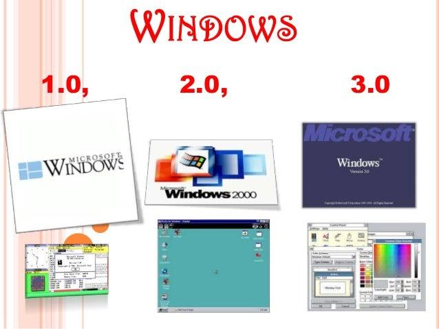 WINDOWS 1.0, 2.0, 3.0