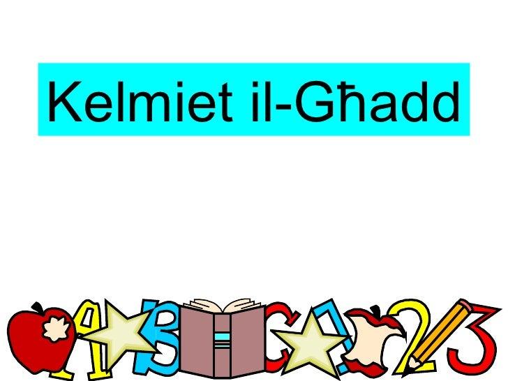 Kelmiet il-Għadd