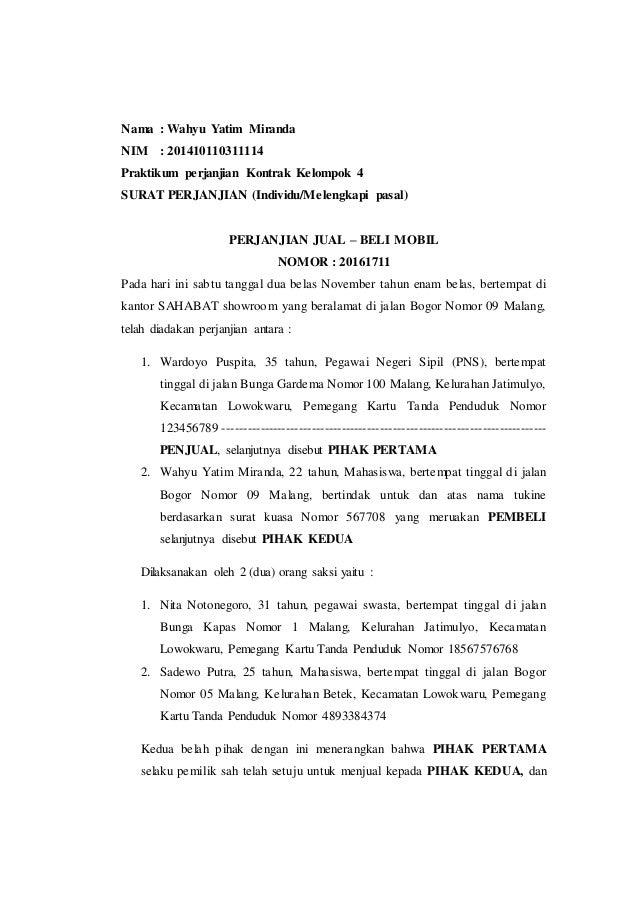 Perjanjian Kontrak