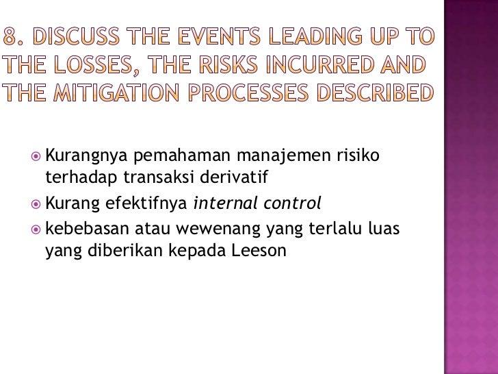 barings bank risk management disaster ppt Barings bank - failure in risk management nick leeson.
