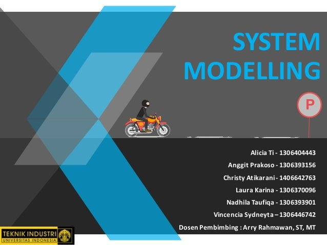 SYSTEM   MODELLING Alicia  Ti  -‐ 1306404443 Anggit  Prakoso  -‐ 1306393156 Christy  Atikarani  -‐ 140664...