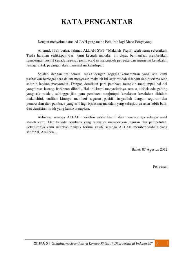 Bagaimana Seandainya Konsep Khilafah Diterapkan Di Indonesia