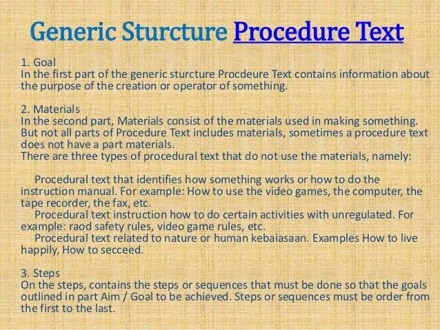 Kelompok 3 Procedure B Inggris Dalam Bahasa Inggris