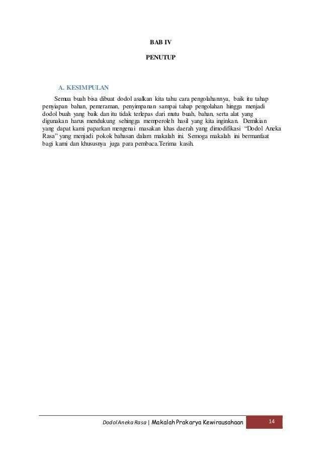 Contoh Kata Penutup Laporan Prakarya