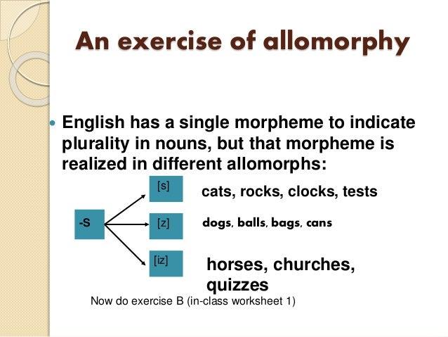 Allomorph inflection and noun plural morpheme