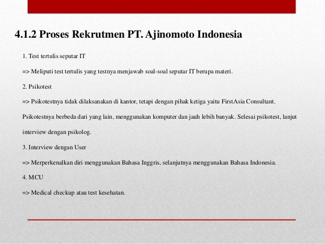 Tentang Pt Ajinomoto Indonesia