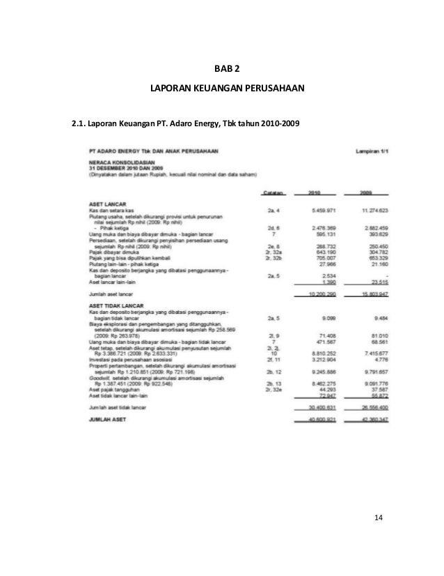 Contoh Makalah Analisis Laporan Keuangan Perusahaan Tbk Kumpulan Contoh Laporan