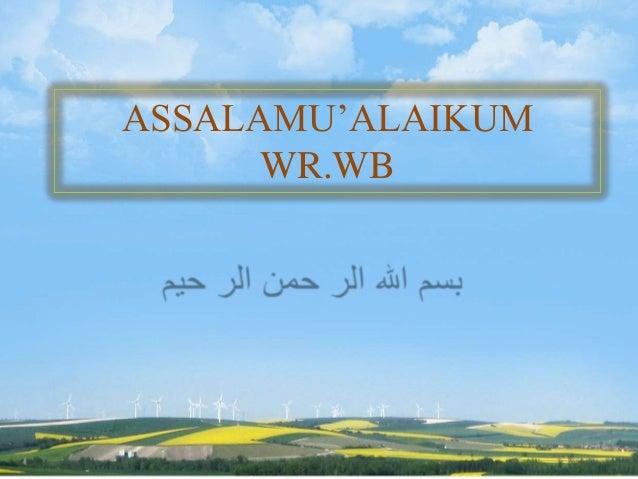 ASSALAMU'ALAIKUMWR.WB
