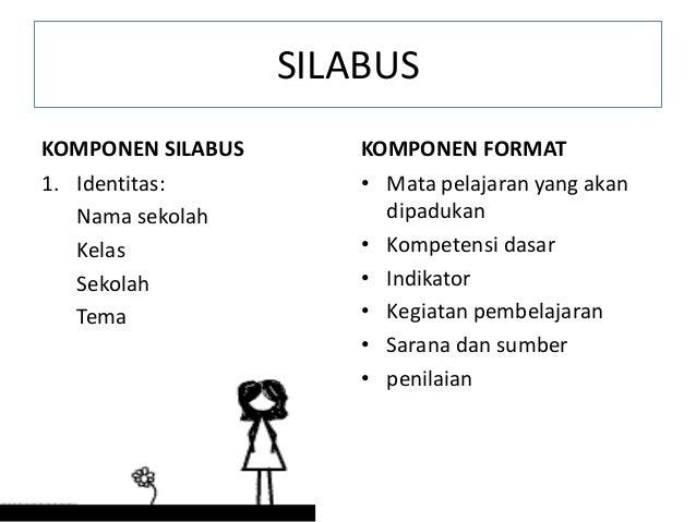 SILABUS KOMPONEN SILABUS 1. Identitas: Nama sekolah Kelas Sekolah Tema KOMPONEN FORMAT • Mata pelajaran yang akan dipaduka...