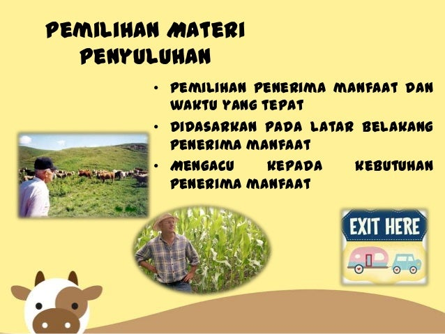 Ppt Materi Penyuluhan Pertanian