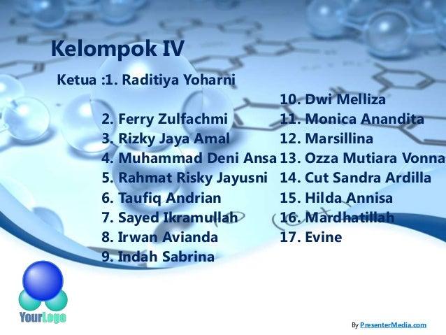 Kelompok IVKetua :1. Raditiya Yoharni                              10. Dwi Melliza      2. Ferry Zulfachmi      11. Monica...