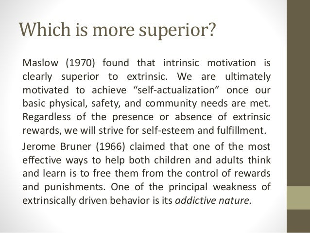 extrinsic reinforcement and intrinsic motivation essay