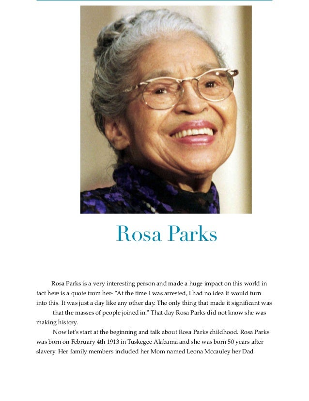 Rosa Parks By Kelsey