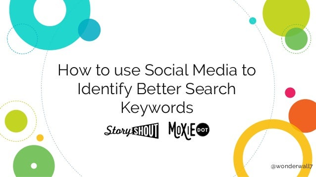 How to use Social Media to Identify Better Search Keywords @wonderwall7