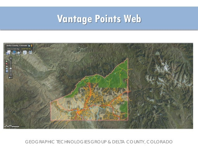 Delta County Colorado Map.2013 Enterprise Track Delta County S Gis Solution For Public Safety