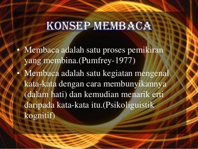 KONSEP MEMBACA• Membaca adalah satu proses pemikiran  yang membina.(Pumfrey-1977)• Membaca adalah satu kegiatan mengenal  ...