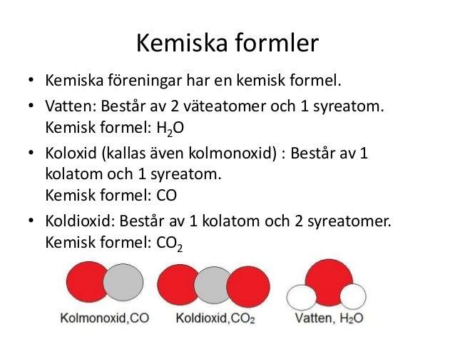 kemisk förening korsord
