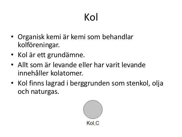Lena Koinberg Kemi Kol Och Kolforeningar Del 1