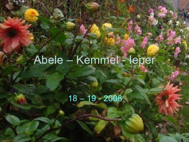 Abele – Kemmel - Ieper 18 – 19 - 2008