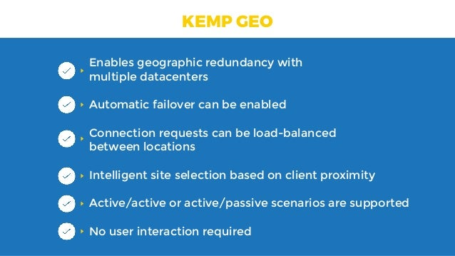 Redundancy and Failover with Always-on-VPN and KEMP GSLB