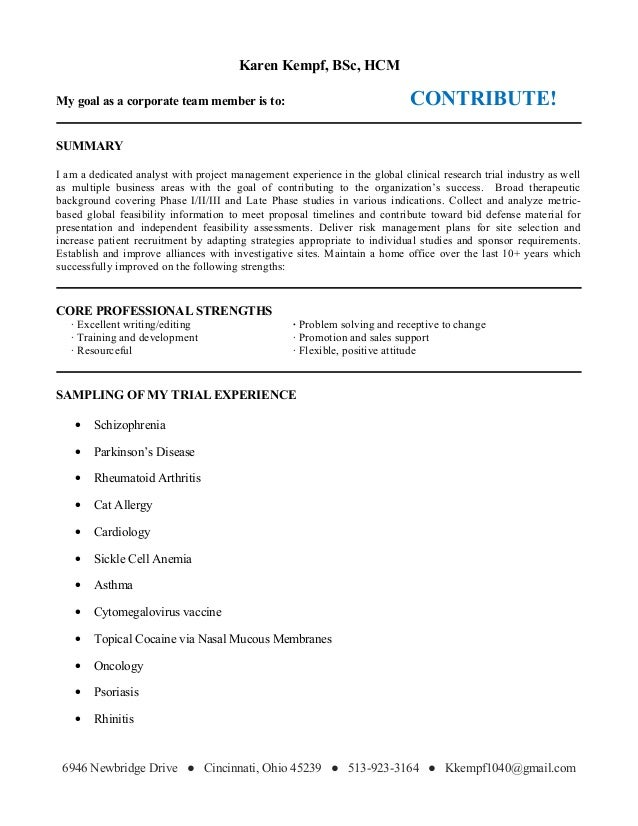 core professional strengths
