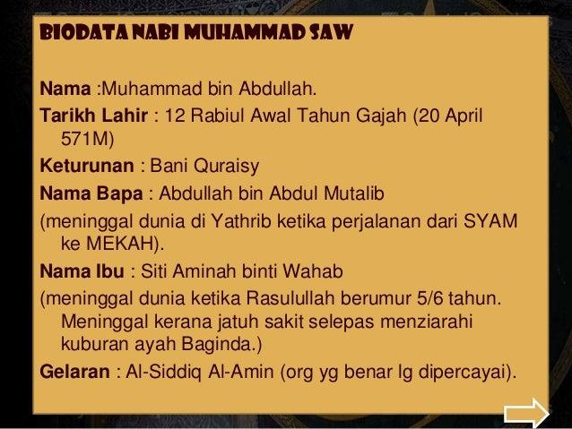 Kemunculan Tamadun Islam Zaman Rasulullah