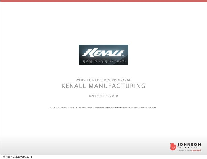 WEBSITE REDESIGN PROPOSAL                                           KENALL MANUFACTURING                                  ...