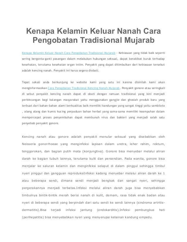Kenapa Kelamin Keluar Nanah Cara Pengobatan Tradisional Mujarab Kenapa Kelamin Keluar Nanah Cara Pengobatan Tradisional Mu...