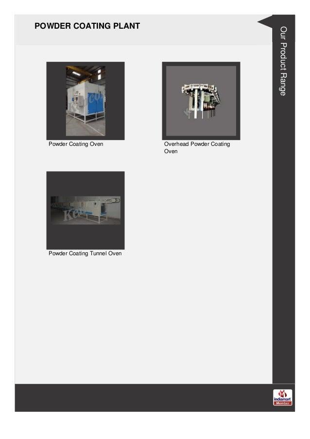 POWDER COATING PLANT Powder Coating Oven Overhead Powder Coating Oven Powder Coating Tunnel Oven Our Product Range
