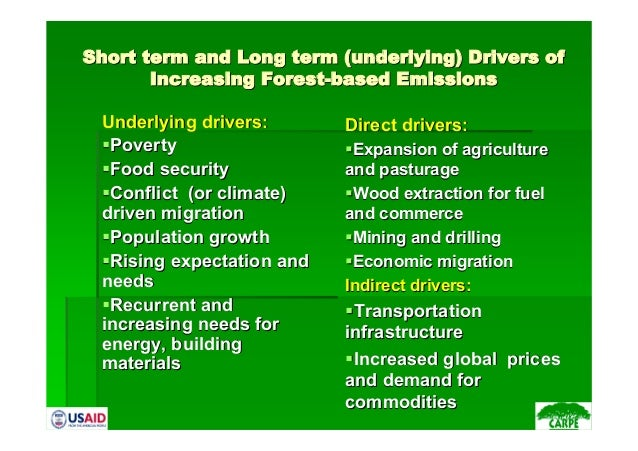 Short term and Long term (underlying) Drivers ofShort term and Long term (underlying) Drivers ofIncreasing Forest-based Em...