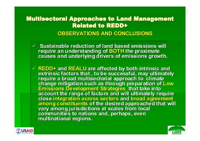 MultisectoralMultisectoral Approaches to Land ManagementApproaches to Land ManagementRelated to REDD+Related to REDD+OBSER...