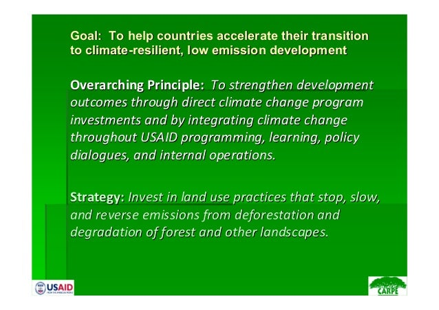 Goal: To help countries accelerate their transitionGoal: To help countries accelerate their transitionto climate-resilient...